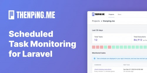 Using Laravel Scheduled Tasks? You should be using thenping.me