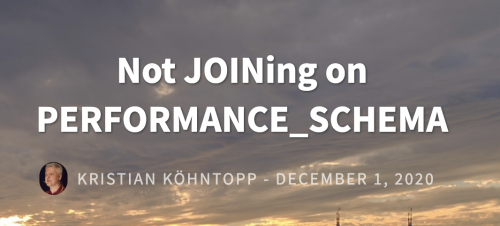 Not JOINing on PERFORMANCE_SCHEMA